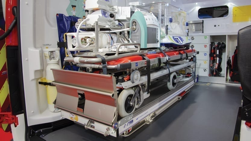 R-3L supporto barella elettromeccanico per ambulanza Stem Technology